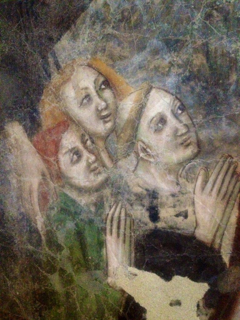 Santo Stefano - affresco, particolare