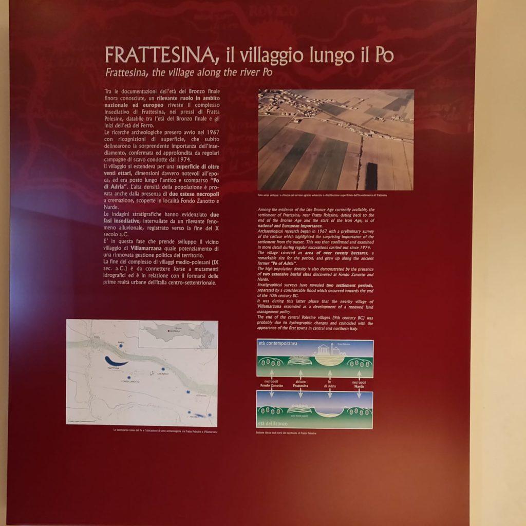 Pannello relativo agli scavi di Frattesina