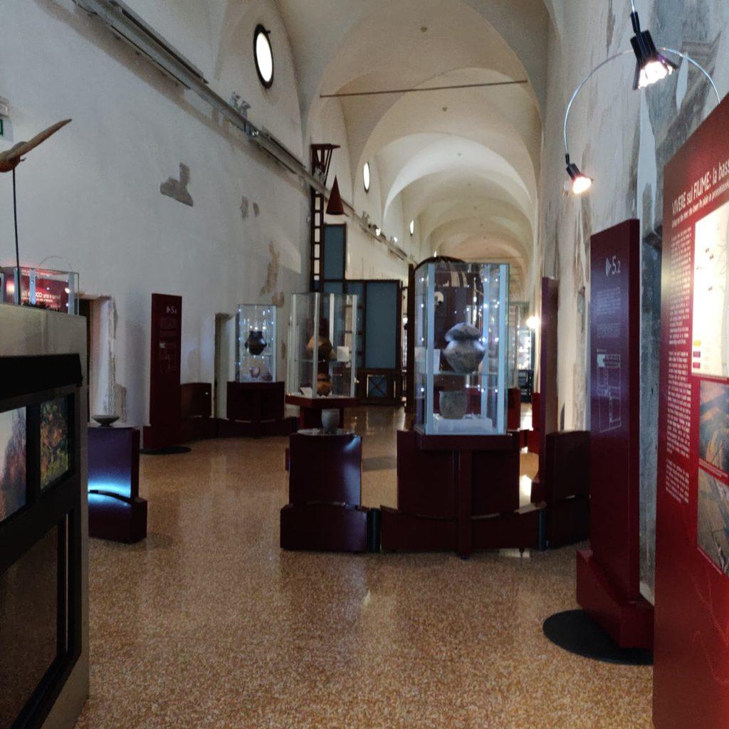 Una parte dell'allestimento museale - corridoio Monastero Olivetani